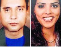 Pawandeep Kaur, right, is wanted in the slaying of her husband, Jaskaran Singh. (hindustantimes.com)