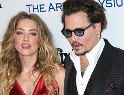 "Amber Heard and Johnny Depp. (Guillermo Proano/<A HREF=""http://www.wenn.com"" TARGET=""newwindow"">WENN.COM</a>)"