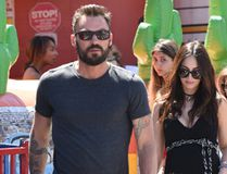 "Megan Fox and Brian Austin Green take their sons to the Farmers Market, April 17, 2016. (<A HREF=""http://www.wenn.com"" TARGET=""newwindow"">WENN.COM</a>)"