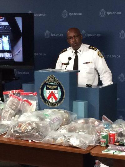 Mark Saunders talks Project Claudia raids at HQ Friday, May 27, 2016. (Craig Robertson/Toronto Sun)