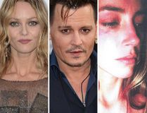 (L-R) Vanessa Paradis, Johnny Depp and Amber Heard. (WENN/Handout photos)