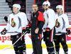 Dave Cameron runs the Ottawa Senators practice at Canadian Tire Centre Monday, March 28, 2016. (JULIE OLIVER/POSTMEDIA)