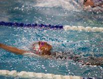 A member of the Vermilion Vipers Swim Club swims her back stroke during the Vermilion Vipers Invitational Swim Meet on Saturday, May 28. Taylor Hermiston/Vermilion Standard/Postmedia Network.