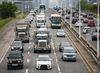 Traffic congestion on the Gardiner Expressway. (ERNEST DOROSZUK, Toronto Sun)