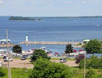 The Ottawa River at the Pembroke Marina.