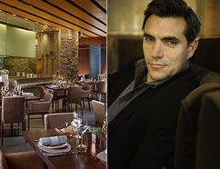 Chef Roy Ellamar, the dining room at Harvest and chef Todd English. (Courtesy MGM Resorts International)