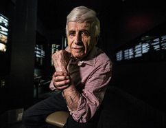Auschwitz survivor Max Eisen at the Toronto Holocaust Museum on June 6, 2016. (Craig Robertson/Toronto Sun)