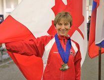 Jan Shulman, of North Bay, won gold at the 2016 International Powerlifting Federation's Classic World Championship in Killeen Texas, Sunday.