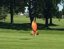 Notley face on golf course