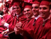 École secondaire catholique Thériault said goodbye to its graduating class of 2016 on Thursday, including, from left, Jacobe Massicotte, Alex Maisonneuve, Jacob Madore and Kyle Lévis.