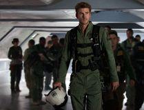 "This image released by Twentieth Century Fox shows Liam Hemsworth as Jake Morrison in a scene from ""Independence Day: Resurgence."" (Claudette Barius/Twentieth Century Fox via AP)"