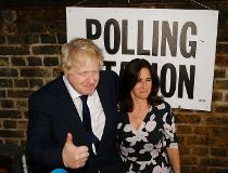 British MP Boris Johnson and his wife Marina