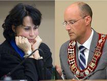 Coun. Maureen Cassidy and Mayor Matt Brown (Free Press photos)