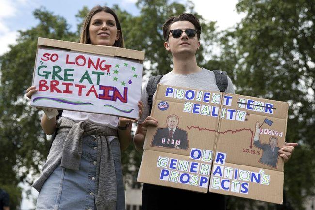 brexit demontrators