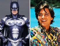 "George Clooney in ""Batman & Robin"" and Andrew McCarthy in ""Weekend at Bernie's II."""