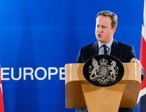 British Prime Minister David Cameron addresses the media during an EU summit in Brussels on Tuesday, June 28, 2016. (AP Photo/Geert Vanden Wijngaert)