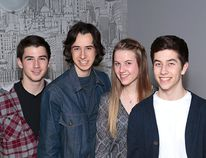 Sean Morrison, James Morrison, Nicole Pernal and Mathew Gorman are the James Morrison Band. Supplied