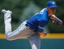 Toronto Blue Jays starting pitcher Aaron Sanchez delivers to Colorado Rockies' Charlie Blackmon Wednesday, June 29, 2016, in Denver. (AP Photo/David Zalubowski)