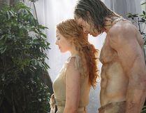 "Margot Robbie, left, and Alexander Skarsgard in a scene from ""The Legend of Tarzan."""