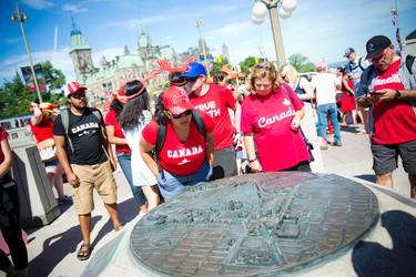 Canada Day celebrations downtown Ottawa Friday July 1, 2016.   Photos by Ashley Fraser
