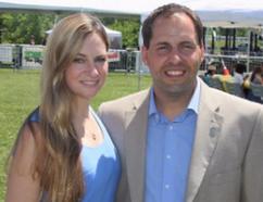 Whitchurch-Stouffville Mayor Justin Altmann with fiance Jenny Hillier (handout photo)
