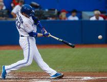 Toronto Blue Jays Josh Donaldson makes a 2-base hit vs. Detroit Tigers at the Rogers Centre in Toronto, Ont. on Thursday July 7, 2016. (Dave Thomas/Toronto Sun/Postmedia Network)