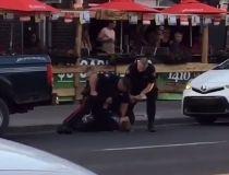 police violent video