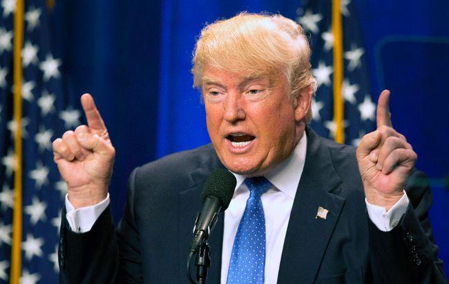 Donald Trump speaks at Saint Anselm College in Manchester, N.H. June 13, 2016. (AP Photo/Jim Cole, File)