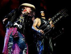 Axl Rose and Slash as Guns N' Roses play Rogers Centre in Toronto July 16, 2016. (Katarina Benzova photo)