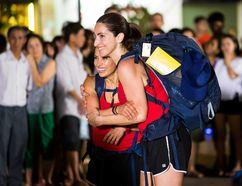 Anne Morrone and Tanya Muzzatti on The Amazing Race Canada.