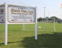 The Henk Van Dyk Memorial Soccer Park in Strathroy. JONATHAN JUHA/STRATHROY AGE DISPATCH/POSTMEDIA NETWORK