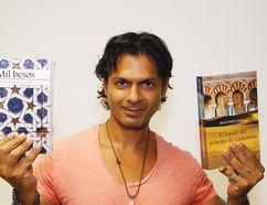 Author Reza Emilio Juma in Sudbury on July 18. (John Lappa/Sudbury Star)