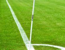 A corner flag on a soccer field at Republic Park in Portage la Prairie, Man. (Matt Hermiz/TheGraphic/Postmedia Network)