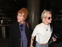 Kristen Stewart (right) with girlfriend Alicia Cargile. (WENN.COM)