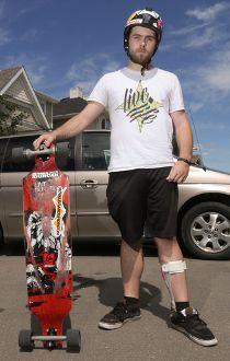 Brandon Harrison longboarder