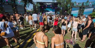 Electric Island music festival near Hanlan's Point on the Toronto Islands in Toronto, Ont.  on Monday August 1, 2016. Ernest Doroszuk/Toronto Sun/Postmedia Network