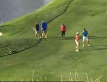 Golfer fight