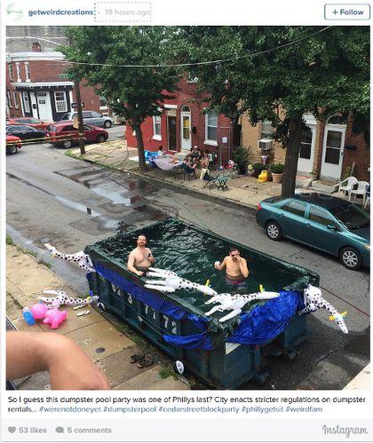 Philadelphia tells residents don 39 t swim in dumpster pools weird news toro for Swimming pools in philadelphia