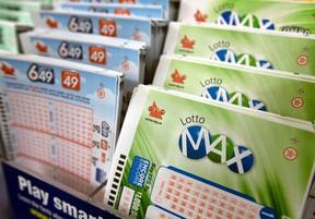 Lotto Max and Lotto 6/49 tickets. Dave Abel/Toronto Sun/Postmedia Network