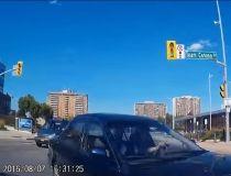 Brampton dashcam collision