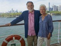 Francis Ford Coppola, left, and Eleanor Coppola on Queen Mary 2 in Brooklyn, N.Y. on Sunday, Jul. 24, 2016. (PRNewsFoto/Diane Bondareff/Cunard Line)