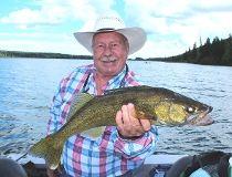 Neil with a fine Battle Lake walleye