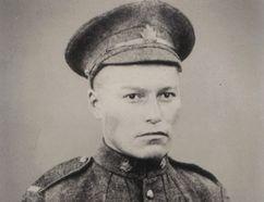 John Chookomolin, spelled Jakomolin in his war records, at the age of 22 when he left Attawapiskat in 1917.