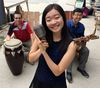 Londomble, including from left, Charles Burnetts, Nicole Tan and Euisung Park will perform at the Mantis Arts & Eco Festival at Boler Mountain Saturday. (DEREK RUTTAN, The London Free Press)