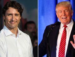 Prime Minister Justin Trudeau and U.S. President Donald Trump. (THE CANADIAN PRESS/Darren Calabrese and AP Photo/Gerald Herbert)