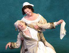 Stephen Ouimette and Brigit Wilson in The Hypochondriac. (DON DIXON/Stratford Festival)