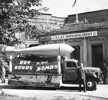 Manning Depot No. 1 at the CNE, 1942 (Credit: John Sutherland)