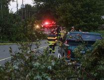 Tornado damage in the area of Riberty Rd. near E.C. Row on August 24, 2016. (JASON KRYK/Windsor Star)