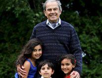 Dr. Gunvant (Gun) Bhatt, who died on Tuesday, is pictured with grandchildren Nalina, Shaunak and Jasmine. (SUBMITTED PHOTO)