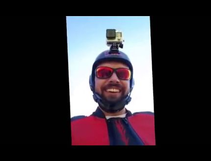 Wingsuit flyer Armin Schmieder